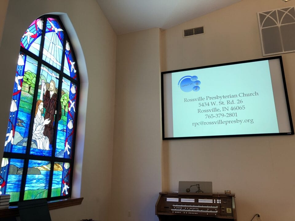 Rossville Presbyterian Church A/V setup